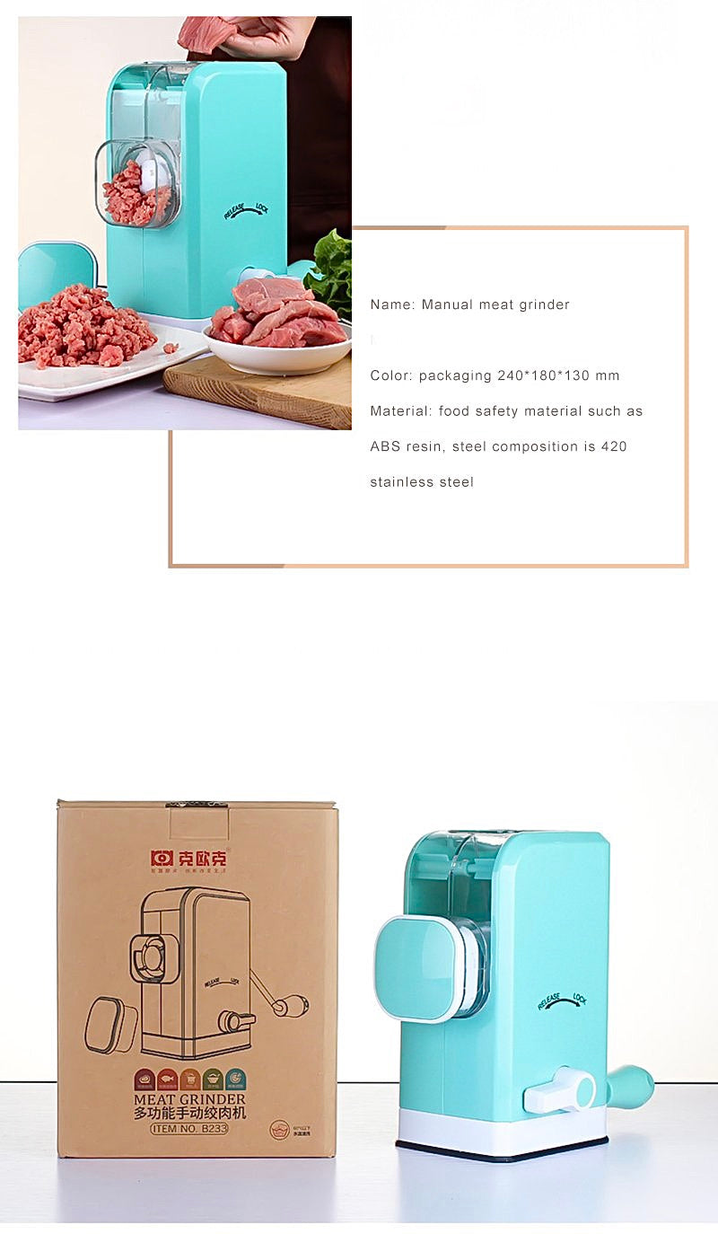 Multi functional Stainless Steel Manual Food Grinder