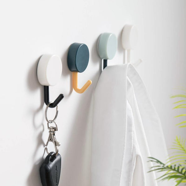 10 Piece Set Adhesive Nordic Wall Hooks Minimalist Foyer Kitchen Bedroom Bathroom Clothes Towel Rails Holder wall Hook key holder home decoration Trend