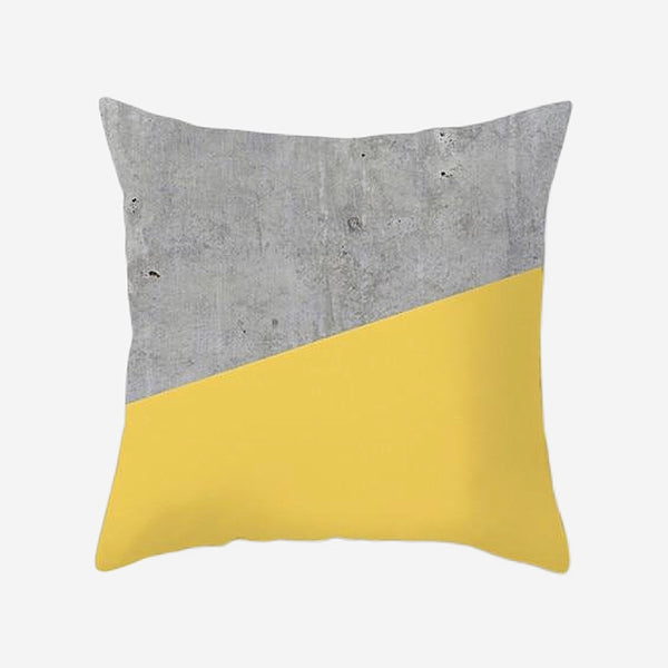 Geometric Cushion Covers Yellow Gray / Grey Stripe Print Pillow Case For Home Chair Sofa Decoration Pillowcases Cover 45cm*45cm Trend