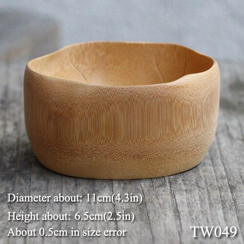 Japan Handmade bamboo bowl for salad mixing food soup rice container bowls Creative Wooden utensils Japanese cookware decorative Dining Room Dinnerware Tableware Accessories Size Chart