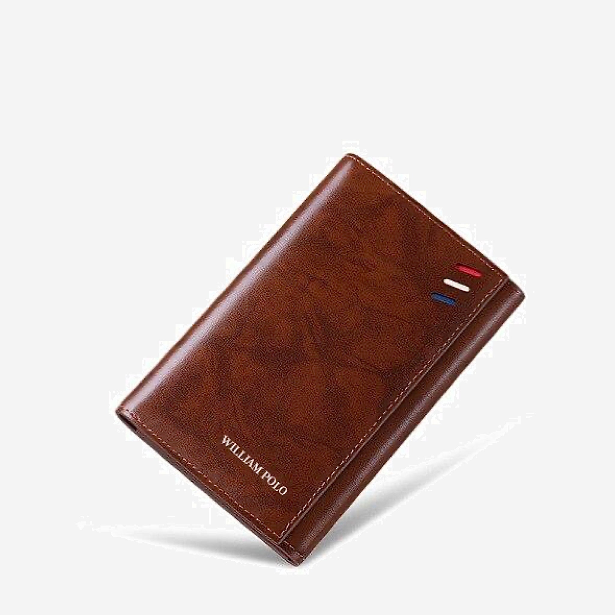 RFID Blocking Brown Cardholder Wallet Elegant slim element three fold multi card position holder ultra thin leather wallets