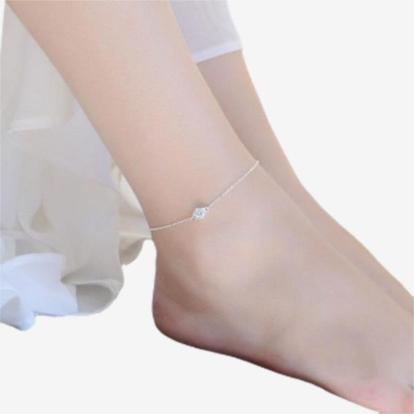 Crystal Silver Anklets Exquisite anklet jewelry Trend Jewellery