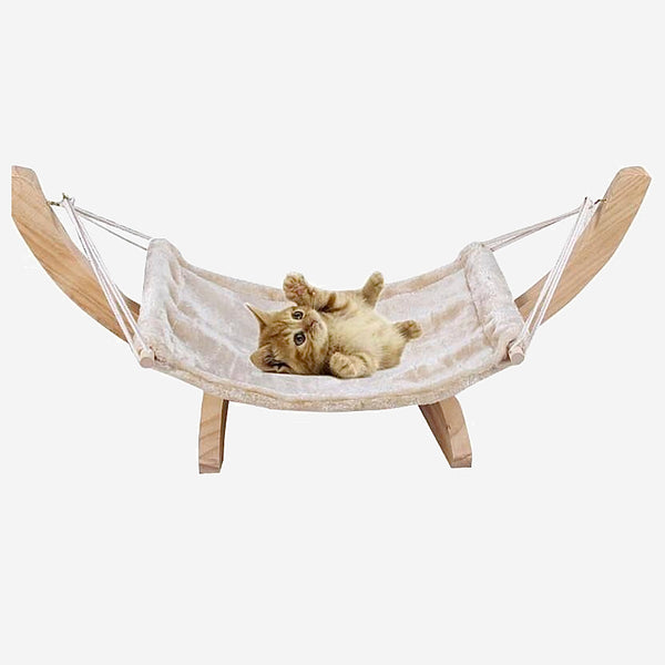 Breathable Hammock Tent    for Cat Solid Wood Hanging DIY Assembled Swing Bed Sleeping Cradle Pet Supplies Trend