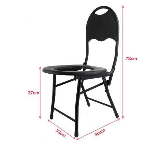 Folding Non-slip Black Toilet Seat Commodes Bathroom Mobility Accessories Size Chart D