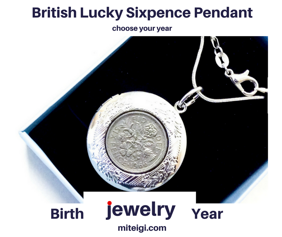 1947 TO 1967 SIXPENCE COIN SILVER NECKLACE PICK YOUR YEAR