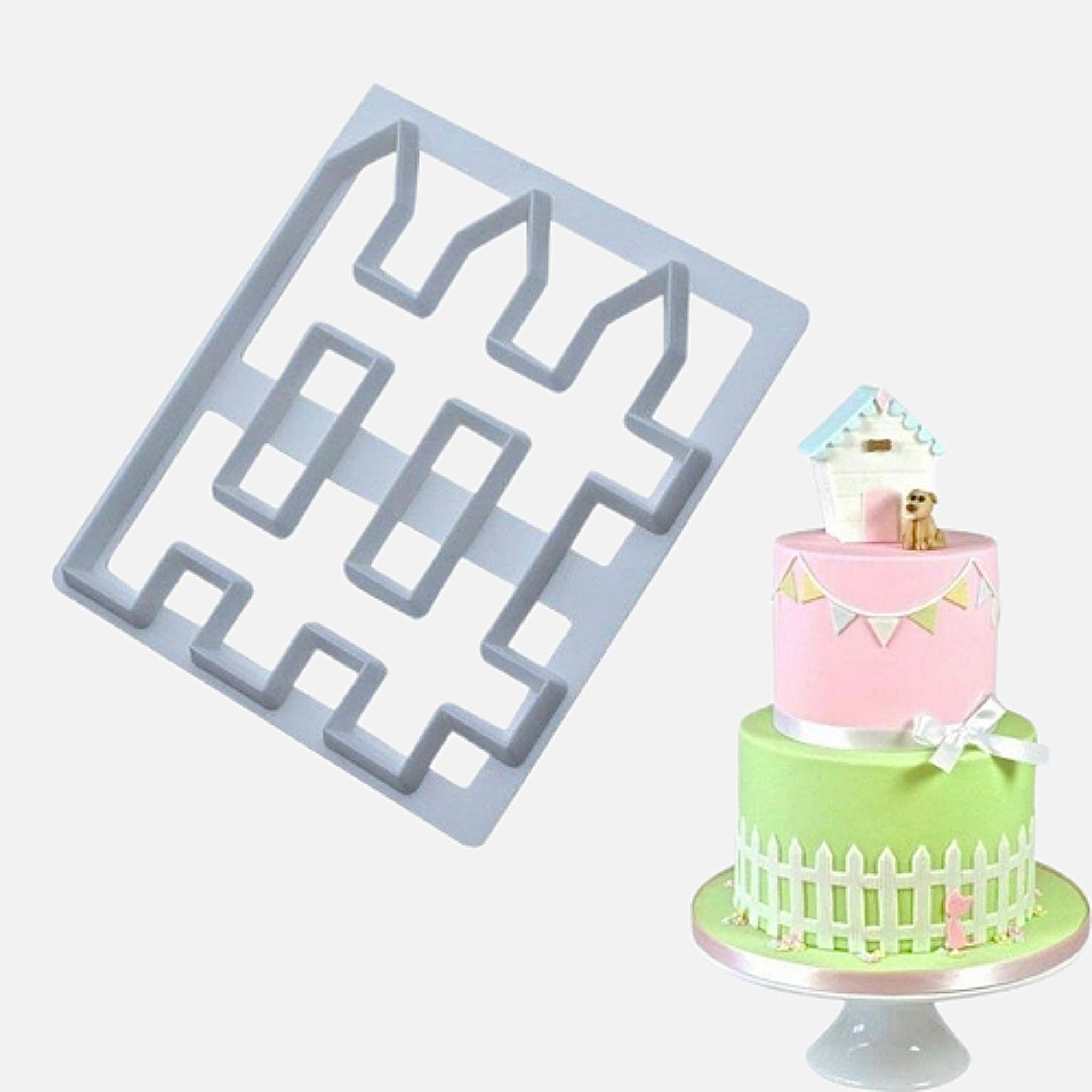 Biscuit Mold       Cute farm animal cutting mold pig sheep cow cartoon DIY fondant cake bakeware molds Trend Picket Fence design