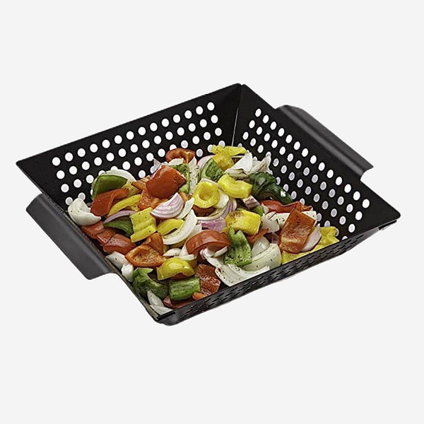 Non-stick Square Grill Basket Black Stainless Steel Barbecue Plate Food Vegetable Tray BBQ Tools Kitchen Gadgets Trend