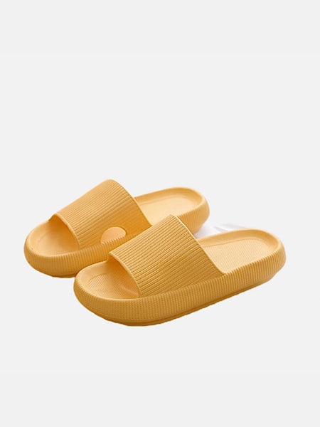 Soft Thick Platform Slippers      Soft EVA Anti-slip Yellow Slides Women's Indoor Footwear Shoes Trend