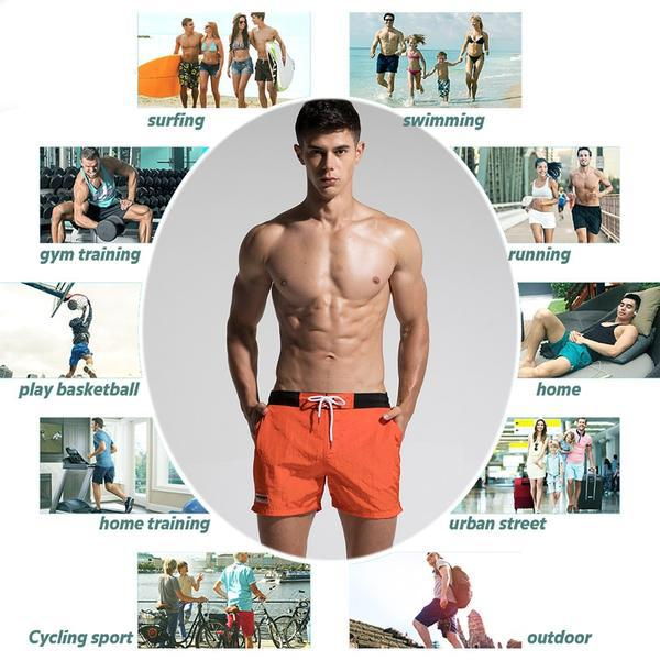 Fast Dry Mens Board Shorts Summer Beach Surfing Man Swimming Shorts Athletic Sport Running Hybrid Man Shorts