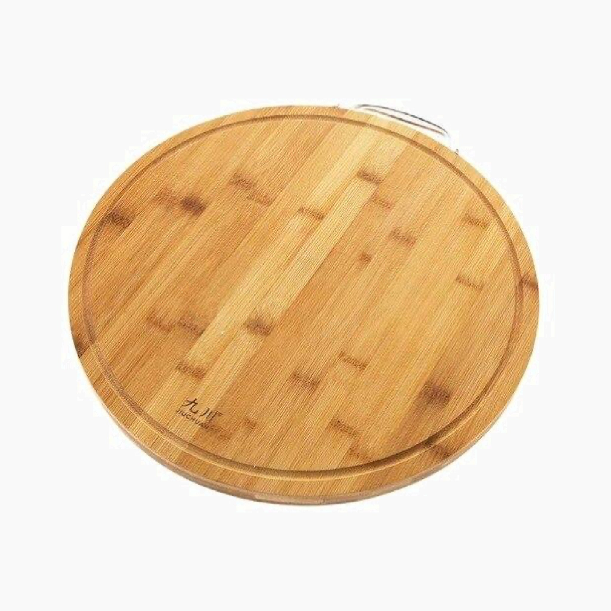 Large Round Wooden Chopping Block Thick Bamboo Rectangle Hangable Cutting Board Kitchen Accessory Trend