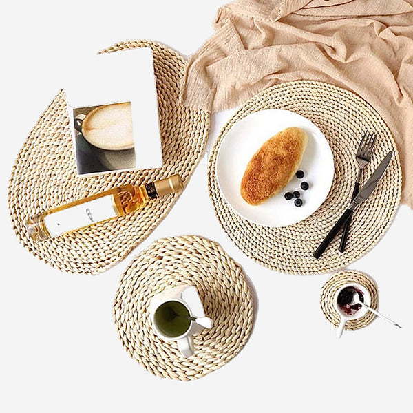 Rattan Placemats Straw Dining Table Mats Trend