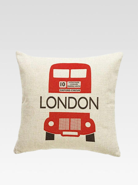 Luxury London Cushion Cover    Cotton linen London double-decker bus print home decoration car sofa pillow cushion covers 45*45 Trend