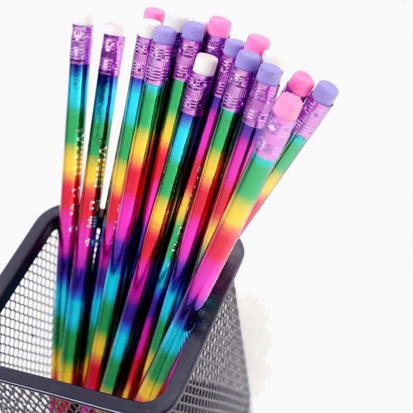 Rainbow Wood Pencil Set