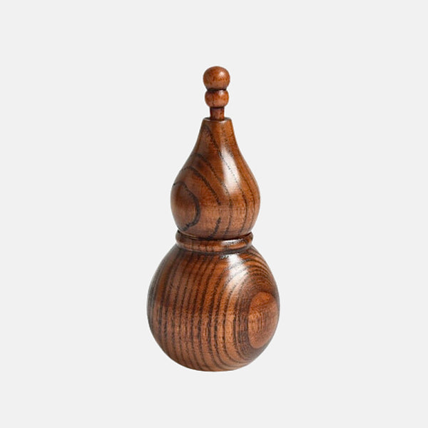Handmade Toothpick Holder       Creative Gourd shape wooden dispenser holders cotton swab jar Kitchen container tool Trend