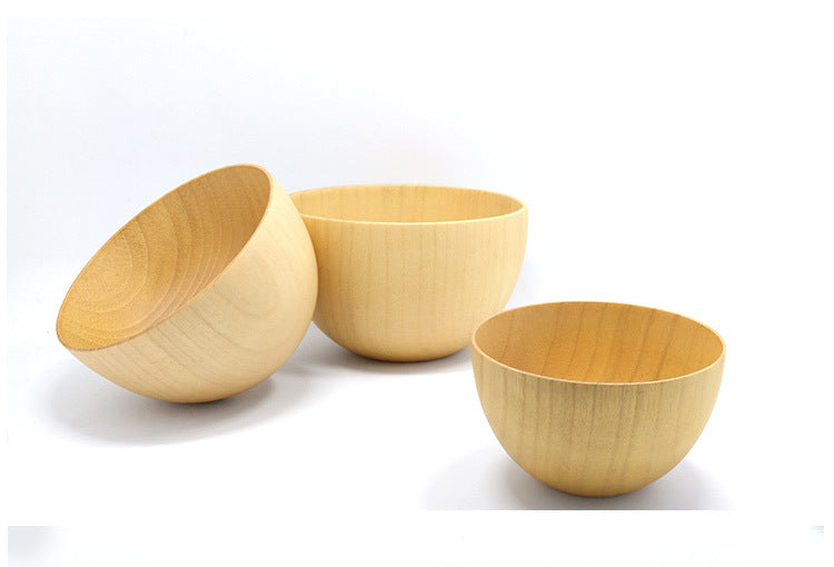 Japanese Original Natural Wooden Jujube Bowls Japan Wood Jujube Bowl Style A