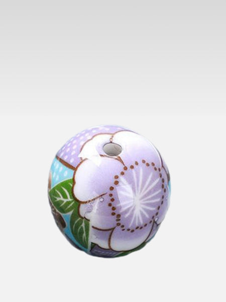 Ceramic Ball Incense Stick Holder      Japanese handmade violet Sakura cherry blossom mini balls aromatherapy pedestal Trend