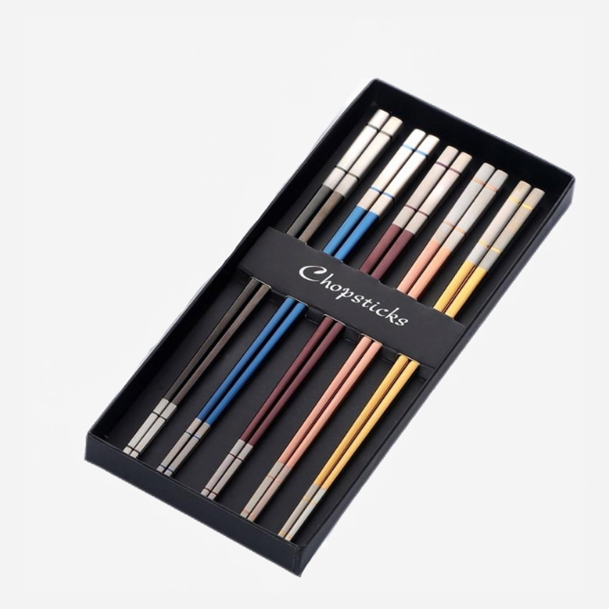 5 Pair Chopsticks Set With Gift Box Trend