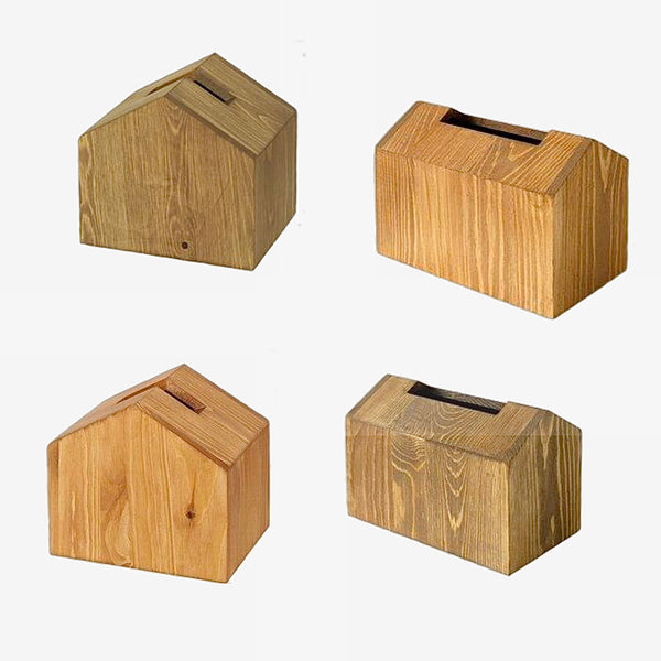 Nordic Wood Tissue Box Creative House Shape Dining Table Removable Wooden Tissue Holder Container Eco Desk Organizer Home Decor Trend