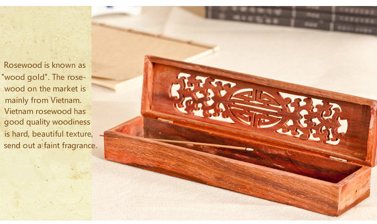 Vietnamese rosewood incense sticks box Vietnam Aromatherapy Accessories Style J