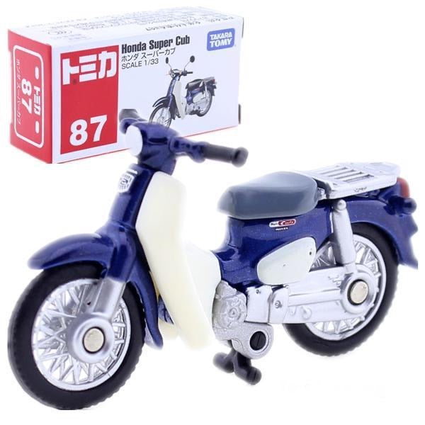 Japanese Tomica NO. 87 Honda Super Cub Scale 1:33 Motorcycle Japan Takara Tomy Diecast metal Car in toy vehicle model Collection Child Kids Toys