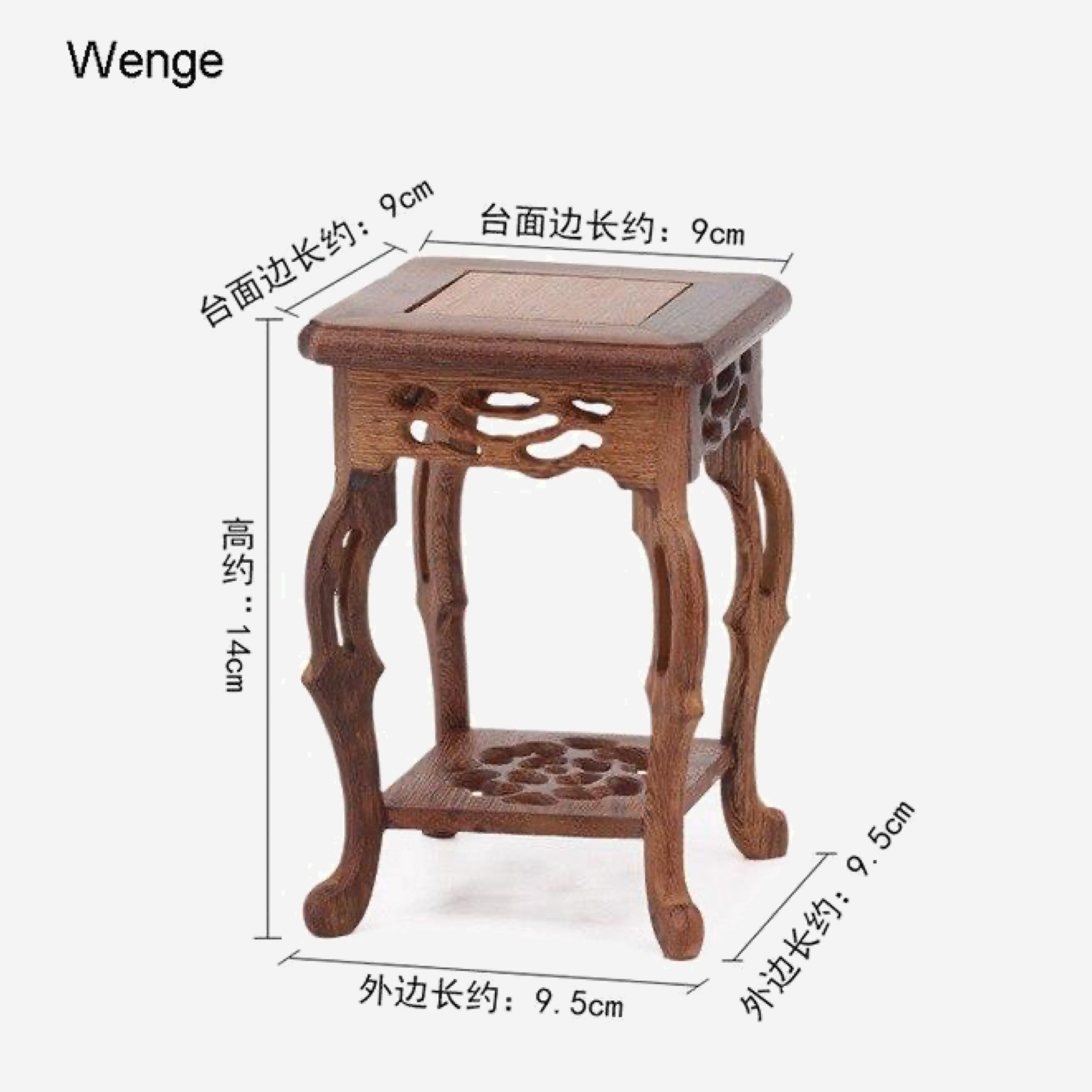 Mahogany Base Table    9cm Diameter Wenge Wood teapot ornaments incense Buddha flowers vase flowerpot rack bases Trend