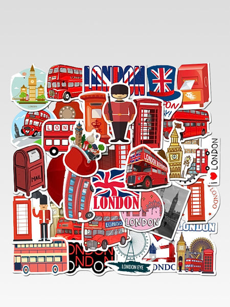 Scrapbooking Stickers       Classic British style London PVC decorative stick label diary stationery album stickers Trend