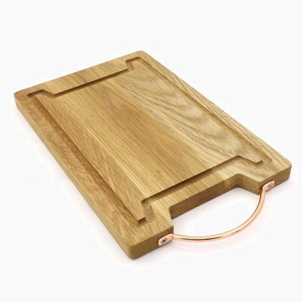 Natural Oak Wood Cutting Board With Juice Groove Wooden Cheese boards With Metal Handle Kitchen Chopping Block Tool Trend