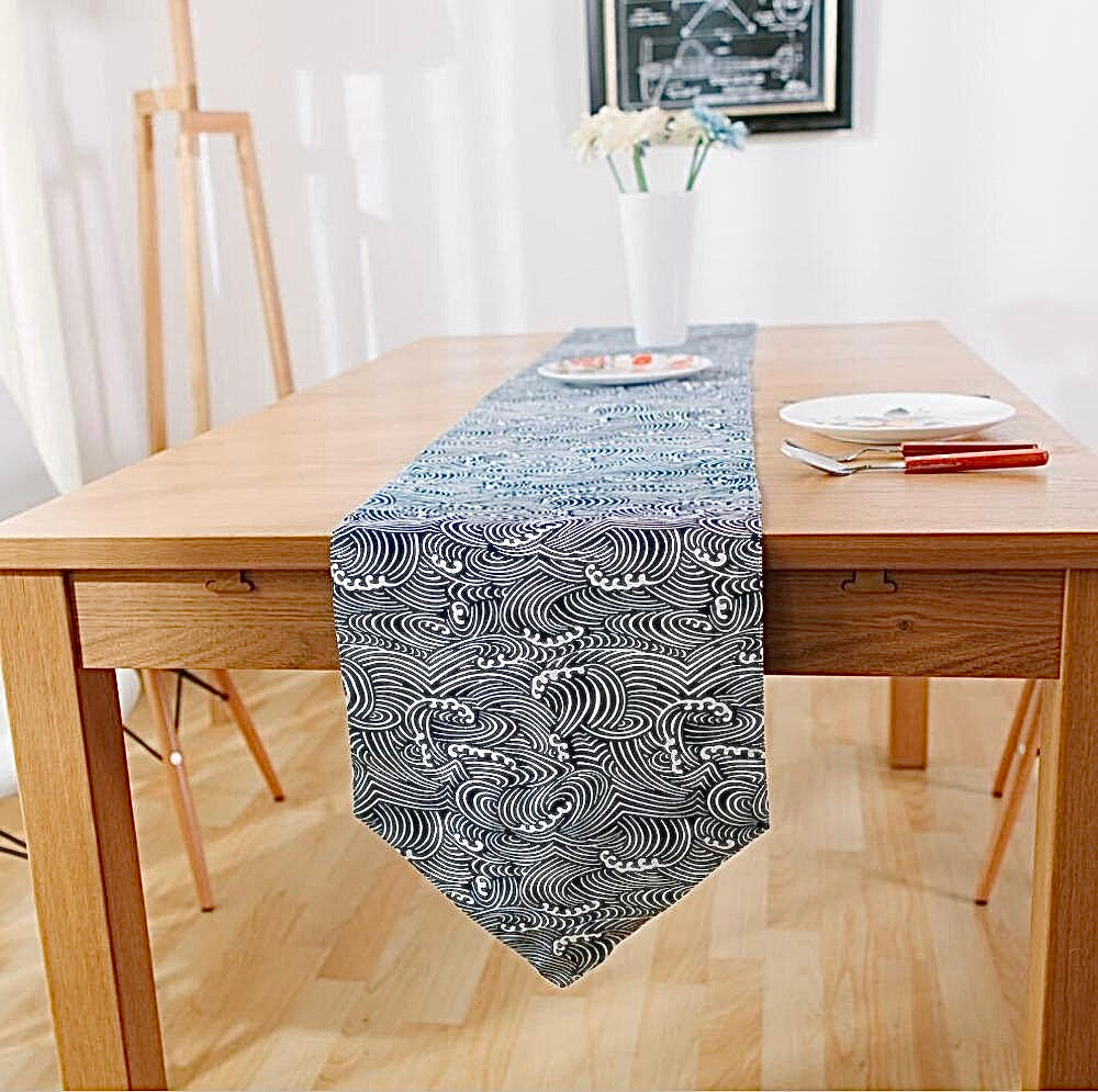 Japanese Zakka Spray Cotton linen Table Runner Trending