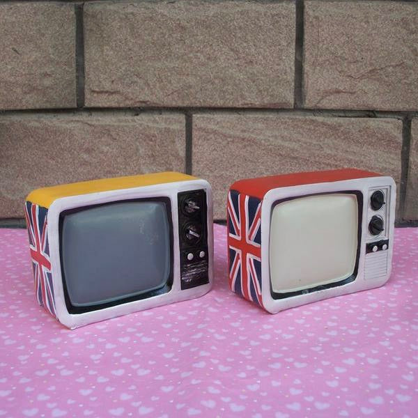 Retro British TV Coin Piggy Bank Money Savings Box Coin Piggy Bank Cash Boxes Child Kids Gift Home Decoration Accessories Style