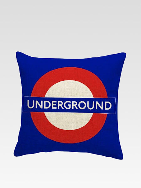 Luxury London Cushion Cover    Cotton linen London Underground print home decoration car sofa pillow cushion covers 45*45 Trend