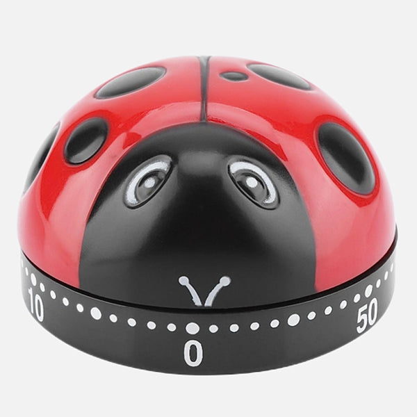 Ladybug Kitchen Timer       Mechanical wind-up 60 minute countdown alarm reminder ladybird Kitchen gadgets Trend