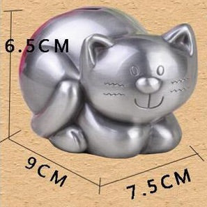 Cute Tabby Cat Coin Piggy Bank Money Savings Box Coin Piggy Bank Cash Boxes Child Kids Gift Home Decoration Accessories Style Size Chart