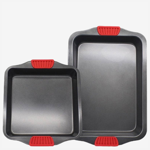 Nonstick Baking Pan with Silicone Handle Carbon steel baking tray Kitchen tools Trend