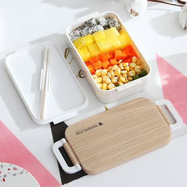 Japanese Wooden Lunch Box Wooden Salad Bento Boxes Portable Microwave Food Container For School Office Camping