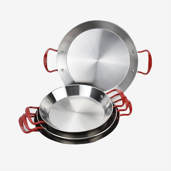 Spanish Paella Pan Stainless steel seafood dish Trend