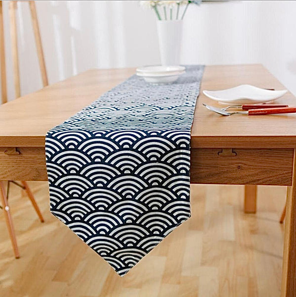 Japanese Zakka Spray Cotton linen Table RunnerTrend