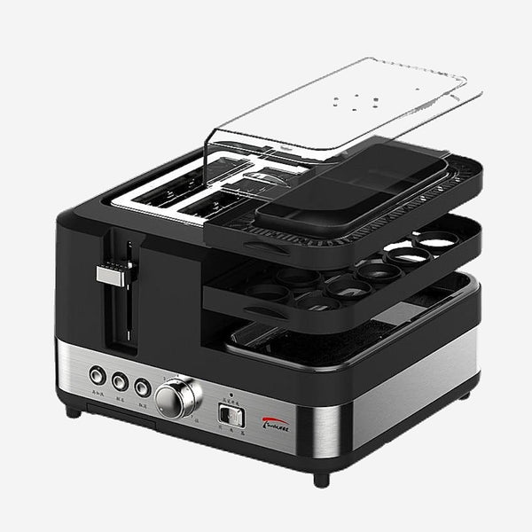 Fully Automatic Stainless Steel Breakfast Cooker Household Multifunction Toaster Spit driver Egg Steamer Trend