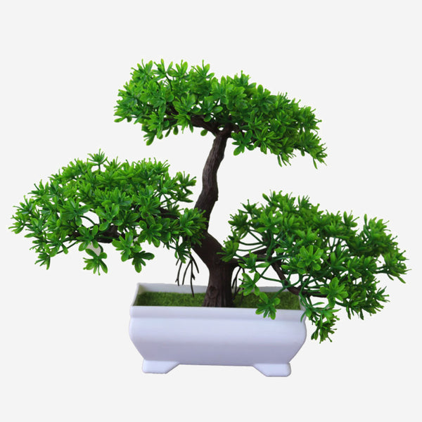 Artificial Potted Bonsai  Small Tree Pot Plants Fake Flowers Ornaments for Home Decoration Room Hotel Garden Decor Trend