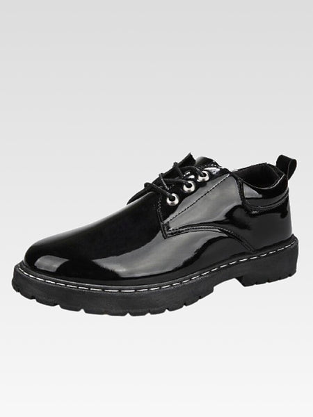 Lace-Up Leather Shoes   Casual mens British style breathable shoes Trend