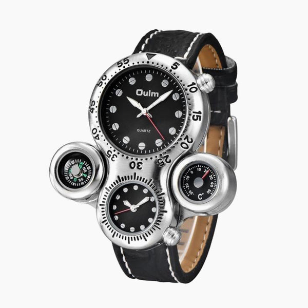 Black Octopus Design Men's Watches Compass and Temperature Measurement for Decoration Unique Male Sport Quartz Watch Trend Fashion