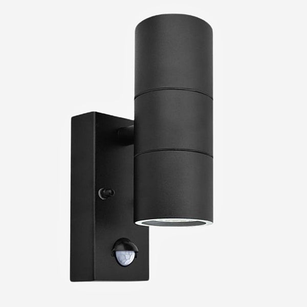 Sensor Motion Wall Light    Black Stainless Steel Induction Movement Sensor PIR Motion Wall Light Double Outdoor 10W Wall Lamp IP54 Up Down Bracket Lamp Trend