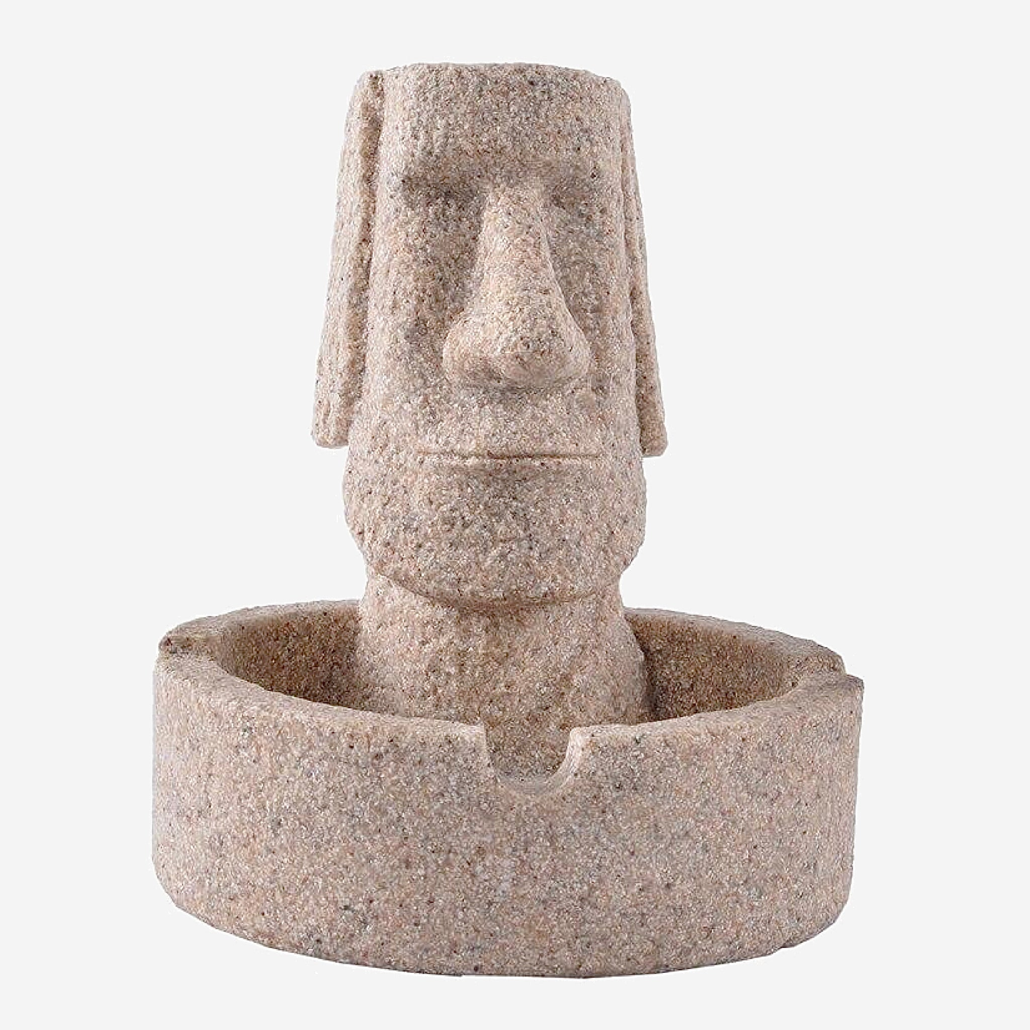 Easter Island Sandstone Ashtray Decoration for table Gift Room Creative Crafts Figurines Trend