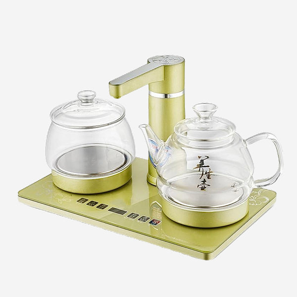 Faucet Teakettle Set Electric kettle Fully automatic 304 stainless steel boiled water bubble glass teapot and teakettle Trend