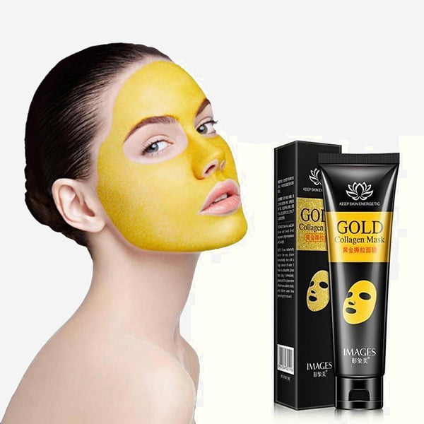 24k Gold Collagen Peel-off Mask 60g   Facial Blackhead Remover Acne Treatment Moisturizing Deep Cleansing Shrink Pore Mask Skincare Trend