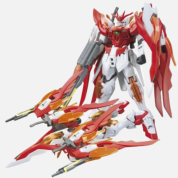 Anime Gundam Zero Honoo Figurine   Japan 1/144 Wing gundam zero Honoo Transformable model Puzzle assembled Japanese Robot Action Figure Gunpla Trend