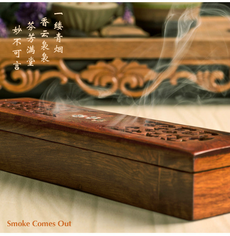 Vietnamese rosewood incense sticks box Vietnam Aromatherapy Accessories Style K