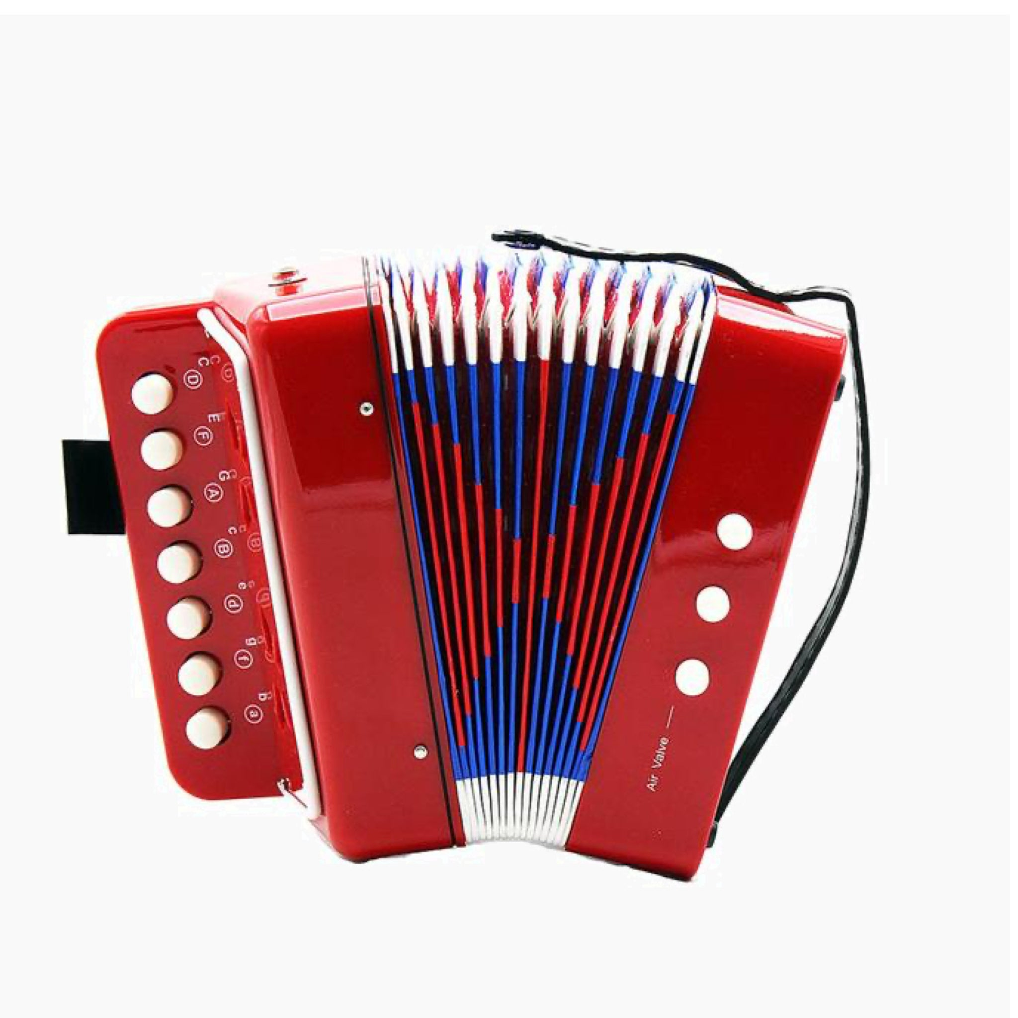 Mini Small Red Accordion 17-Key 8 Bass Educational Musical Instrument Rhythm Band Toy for Kids Children Gift
