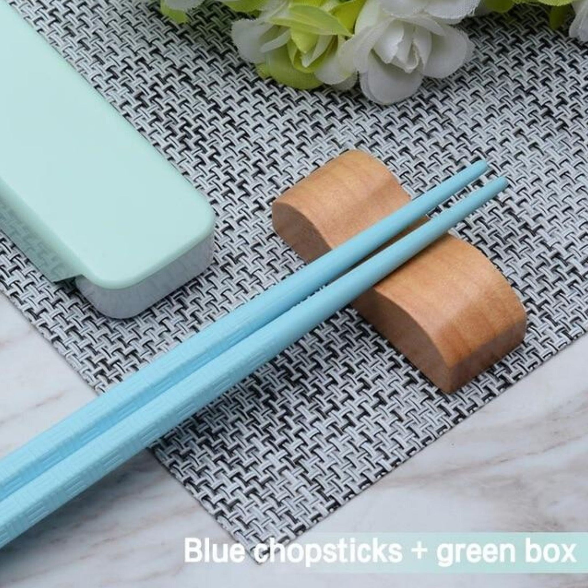 Japanese Travel Blue Chopsticks Set with Case Suitable for School Office Camping Traveling Trend