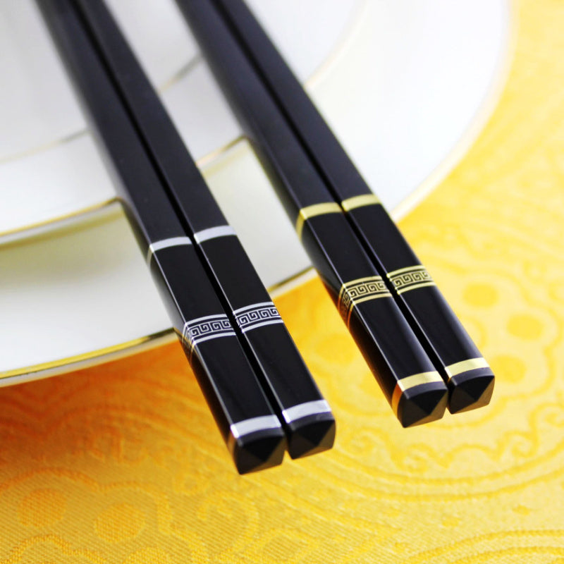 Gold Silver Japanese Chopsticks Dining Cutlery Sets Japan Style C