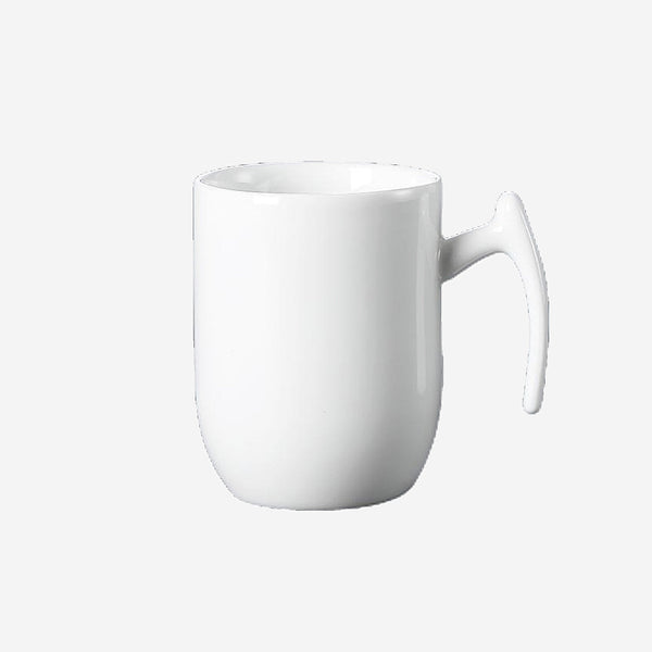 Super White Porcelain Cappuccino Mug Water Fruit Juice Tea Beer Ceramic Coffee Cup Home Hotel Restaurant Trend